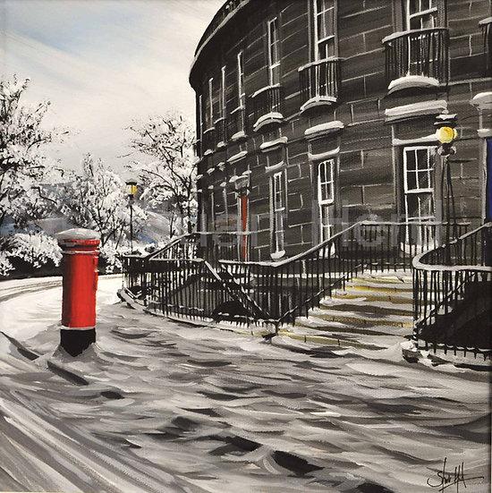 Winter Post, Carlton Terrace - Edinburgh