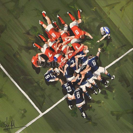 Scotland v Wales Scrum - 2018
