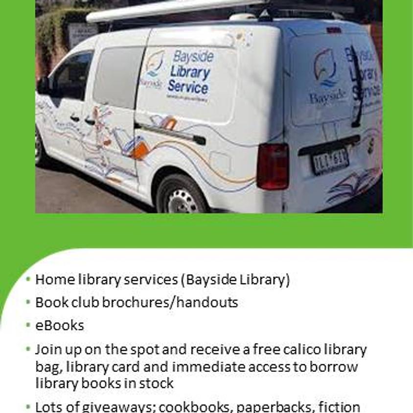 Pop Up Library Van visit to Sandybeach Centre