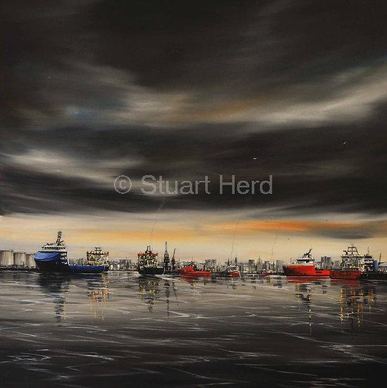Changing Light, Aberdeen Harbour