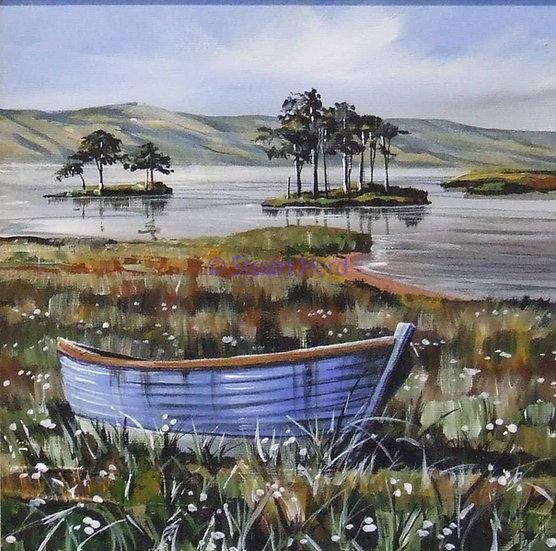 Blue Boats Loch Assynt