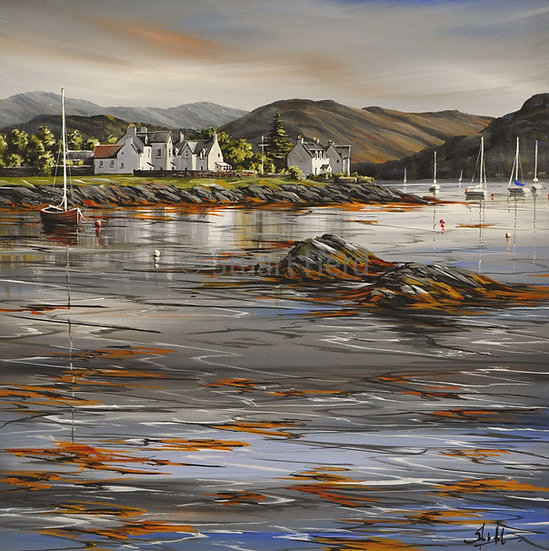 ' Evening Light ' - Plockton