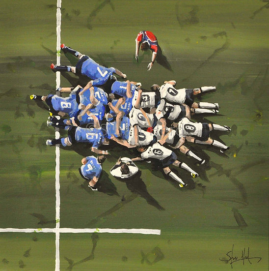 Scotland v Italy Scrum