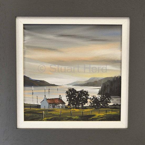 Loch Broom Sunset Cottage Study