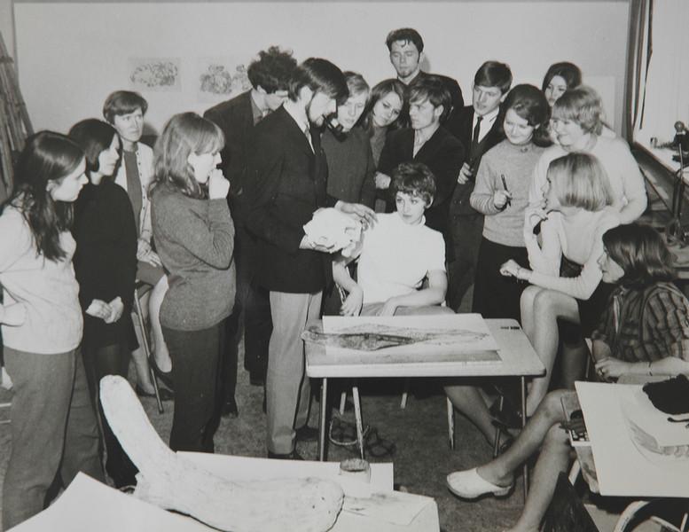 Young Einar teaching