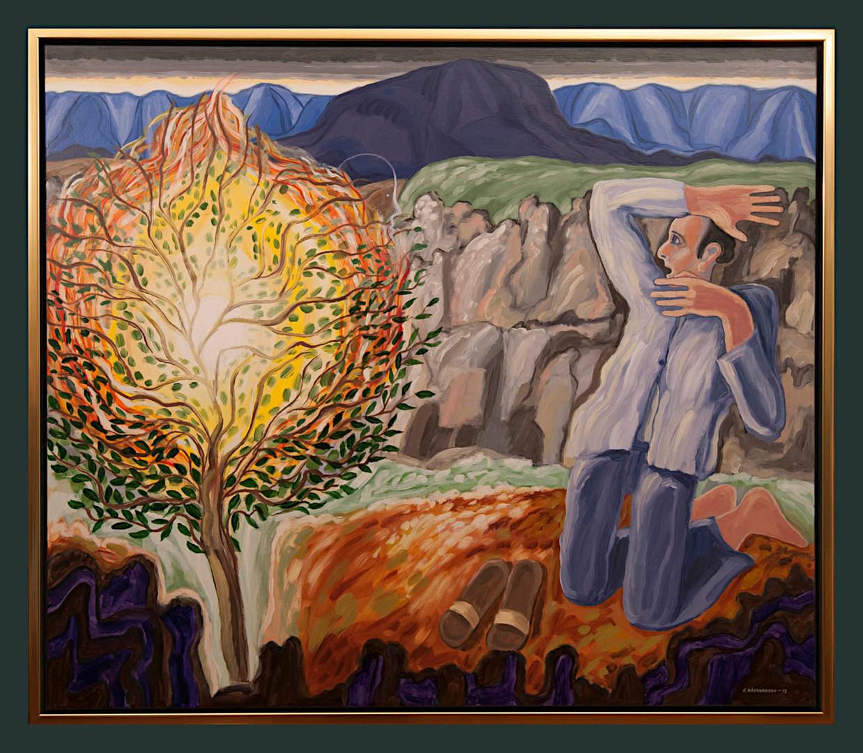 A revelation in Helgafell (Burning bush)