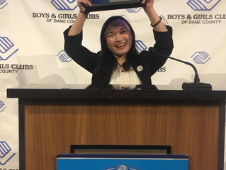 Feanna Vang wins Wisconsin Youth of the Year award, representing the Boys & Girls Club of the Wausau