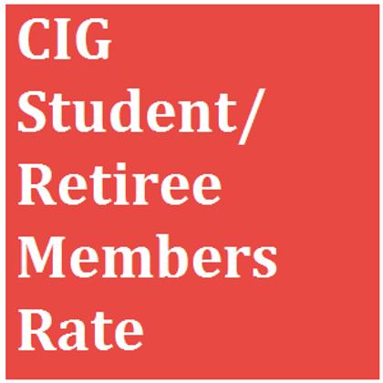 CIG Student/Retiree Members Rate