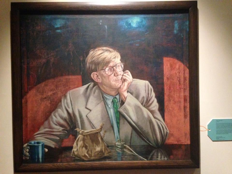 Portrait of Alan Bennett by Tom Wood