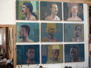 Studio Wall of New Small Paintings