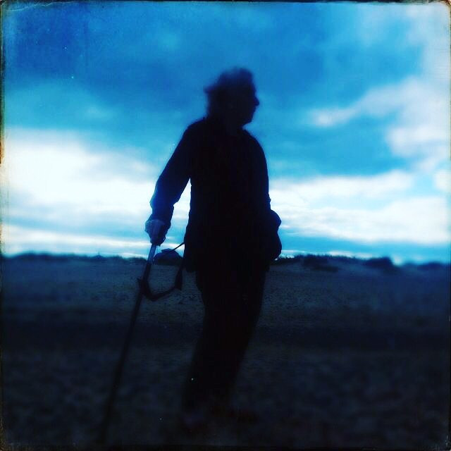 Mum in the blue hour