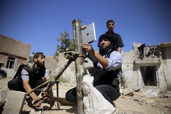 syrian rebels using ipad to fire mortar