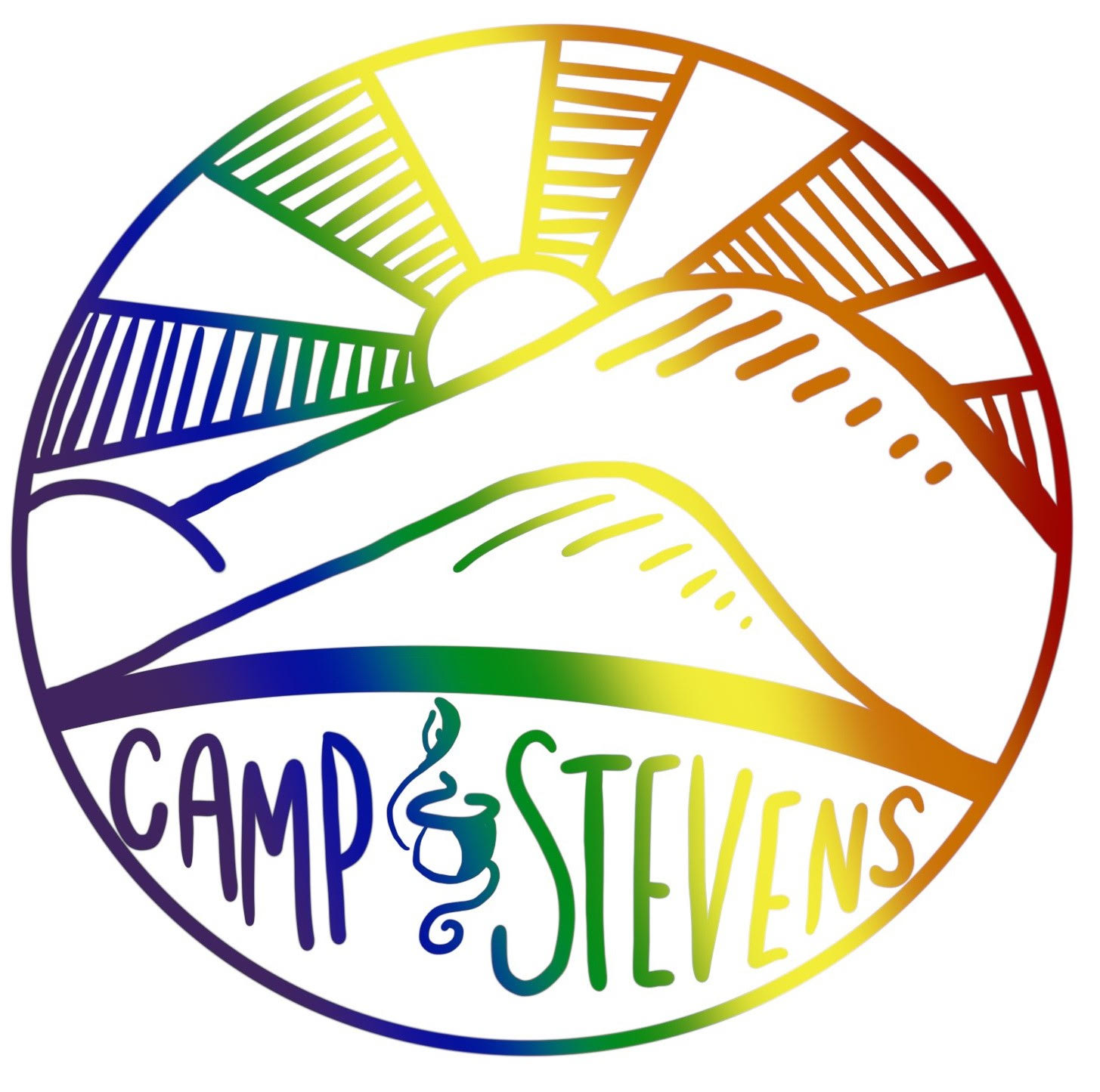 Camp Stevens Pride Sticker - Version 2 (2019)