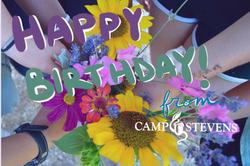 Camp Stevens Birthday Postcard (2019)
