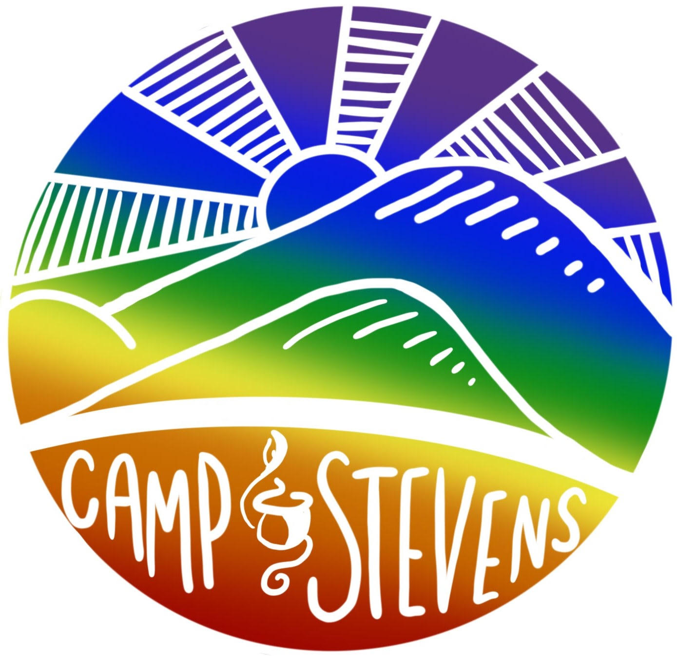 Camp Stevens Pride Sticker- Version 1 (2019)