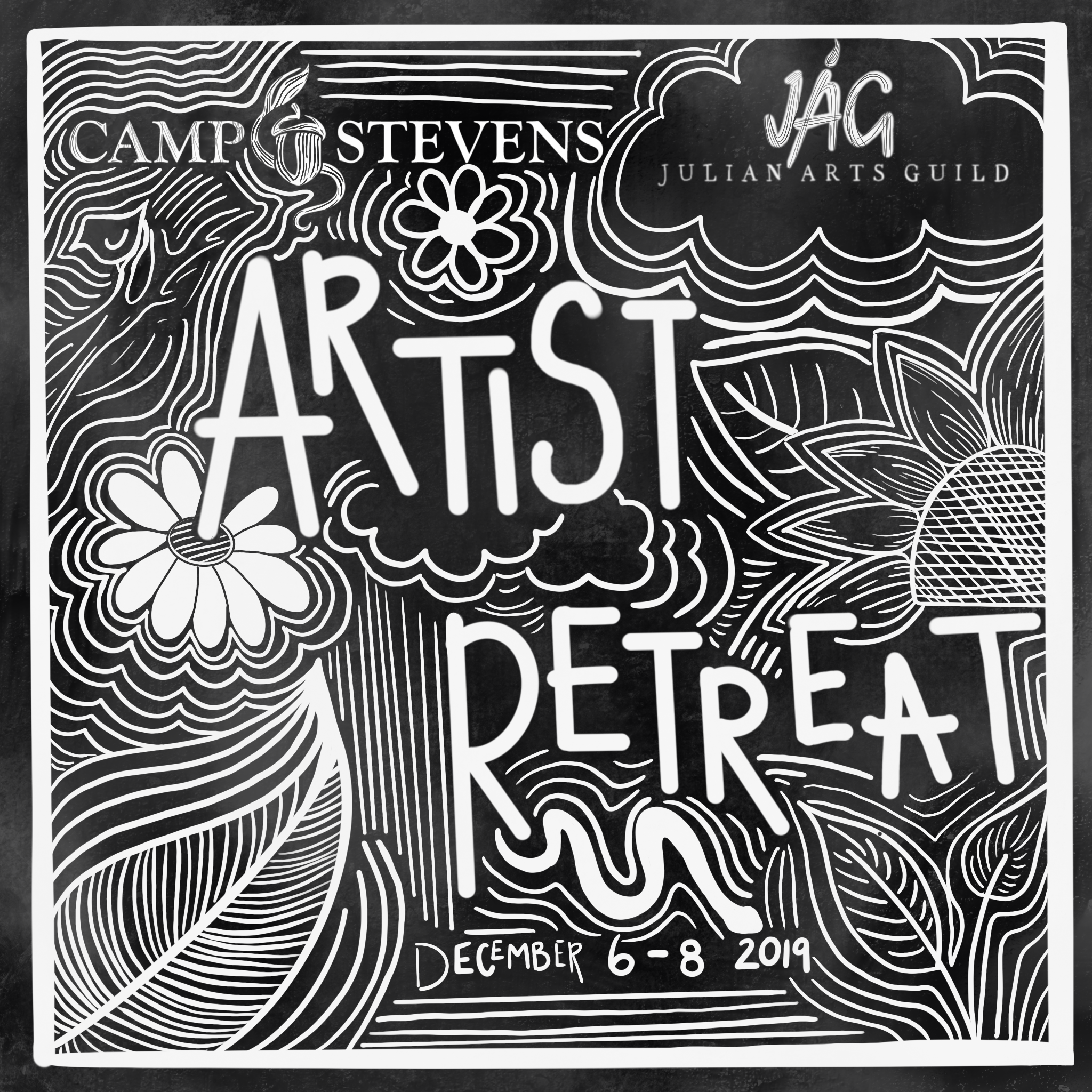Camp Stevens Artist Retreat Flyer (2019)