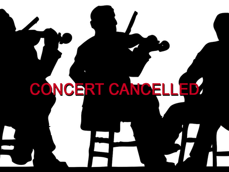 Our last performance of the year has been cancelled.