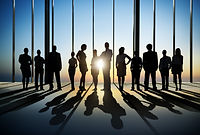 Silhouette of Business People Posing by