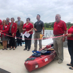 Ribbon Cutting for Kayak Launch at Ariel-Foundation Park