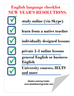 English language checklist: NEW YEAR'S RESOLUTIONS