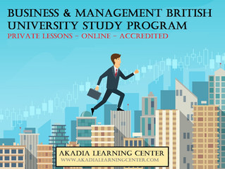 Business and Management Online British University Program