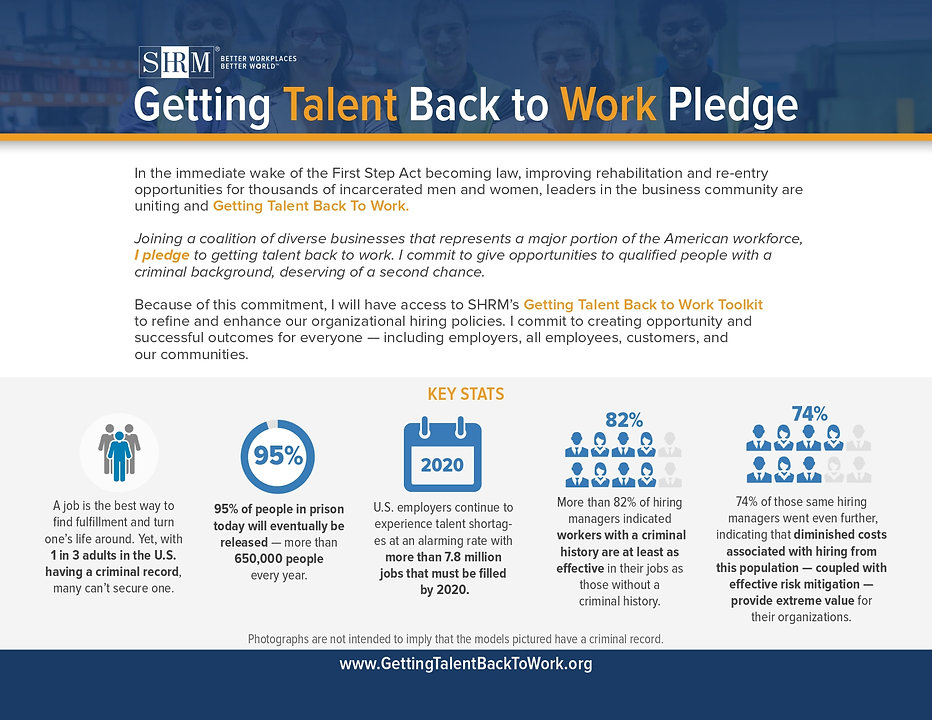 Getting Talent Back To Work  Pledge
