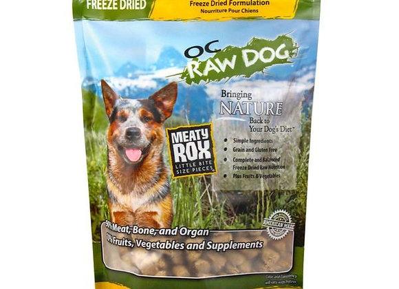 OC Raw Dog Food - Freeze Dried Chicken & Produce Meaty Rox 5.5 oz