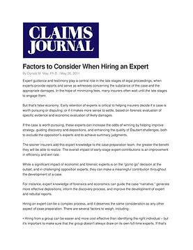 Factors to consider when hiring and expe