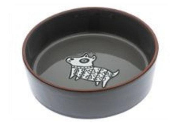 Ceramic Dog Bowl in Henna