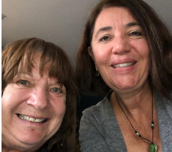 CEIN Members in California: Left, Sue Zipp & Thelma Moreira