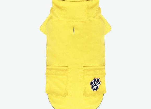 Yellow Doggie Slicker for rainy days