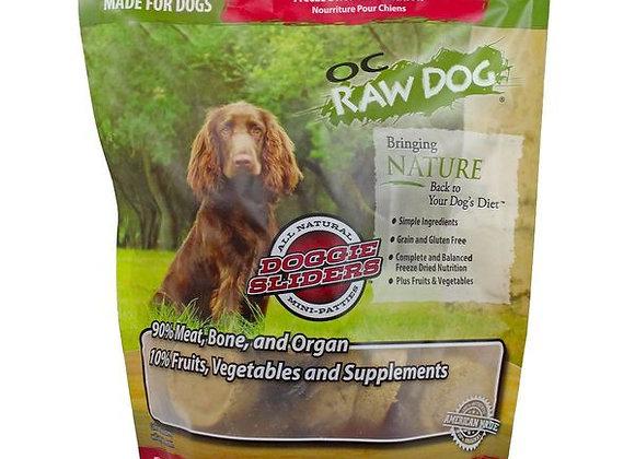 OC Raw Dog Food: Freeze Dried Beef & Produce Sliders 14 oz
