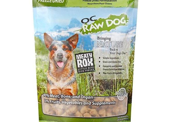 OC Raw Dog Foods - Freeze Dried Turkey & Produce Meaty Rox 5.5 oz
