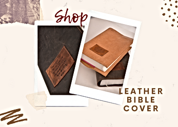 Shop leather Bible cover
