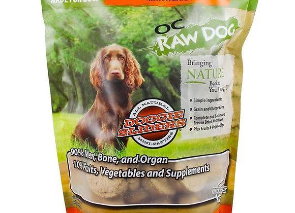 OC Raw Dog Food - Freeze Dried Chicken, Fish & Produce Sliders - 14 oz