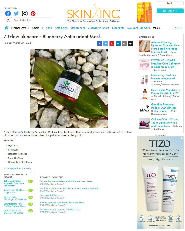 ZGlow Skincare on Skin Inc.