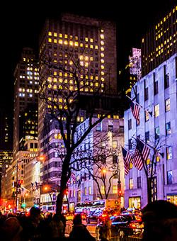 NYC 5th Ave At Night