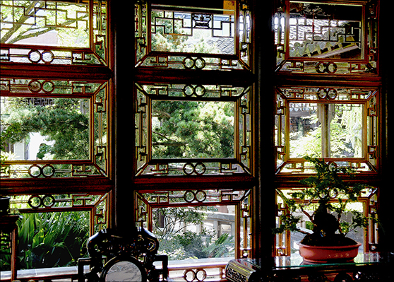 Chinese Garden Window