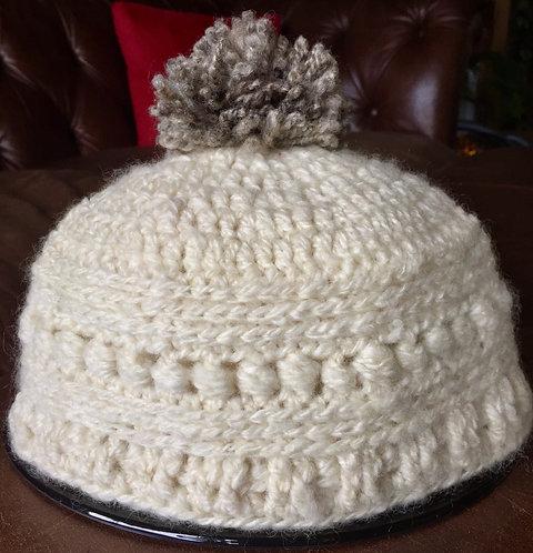 100% hand made woollen crochet beanie