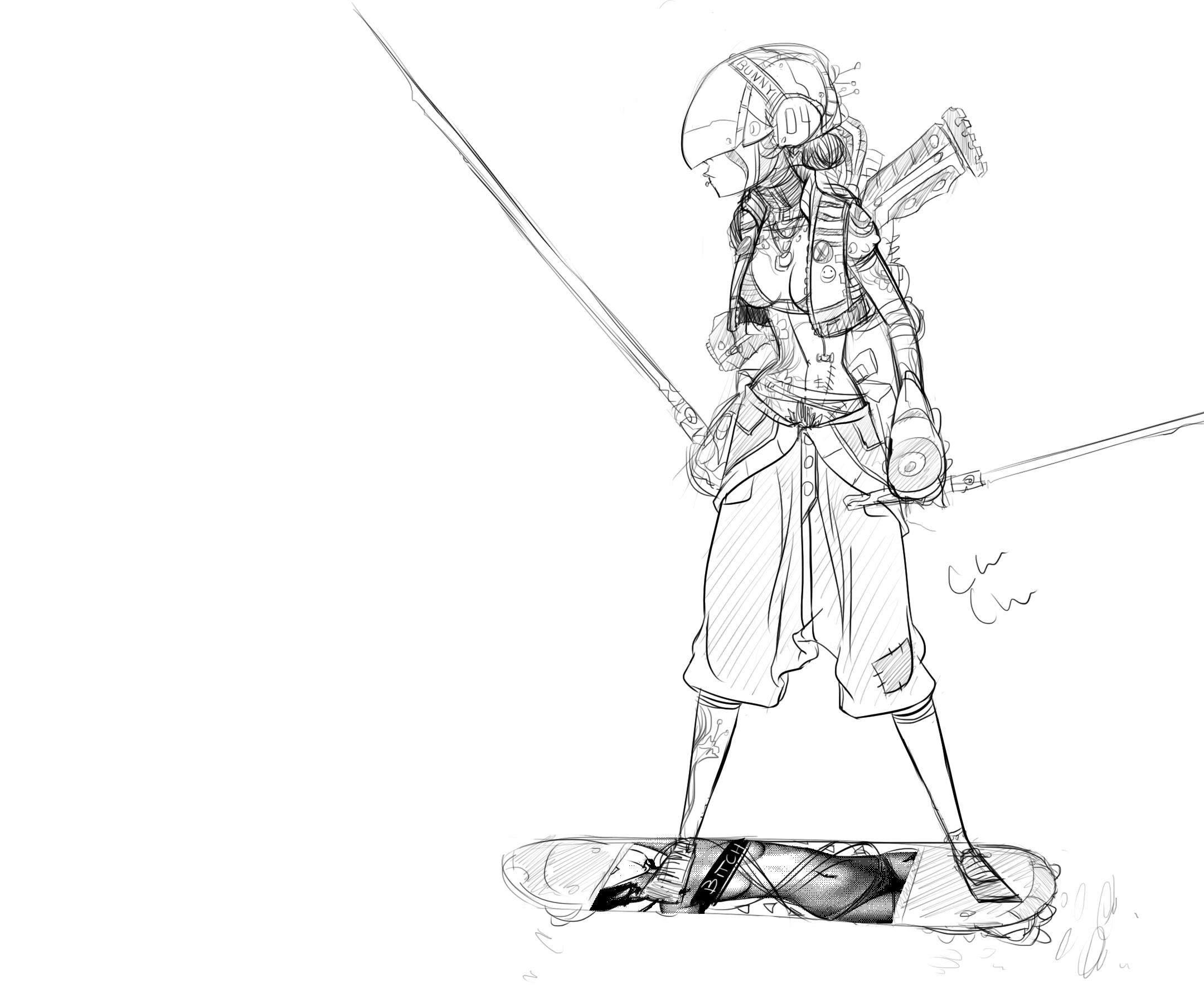 Samurai Ninja Future Chick