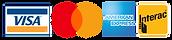 Visa, Mastercard, American Express, Interac Icon