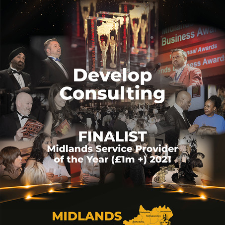 DEVELOP CONSULTING ANNOUNCED AS FINALIST FOR MIDLANDS BUSINESS AWARDS 2021