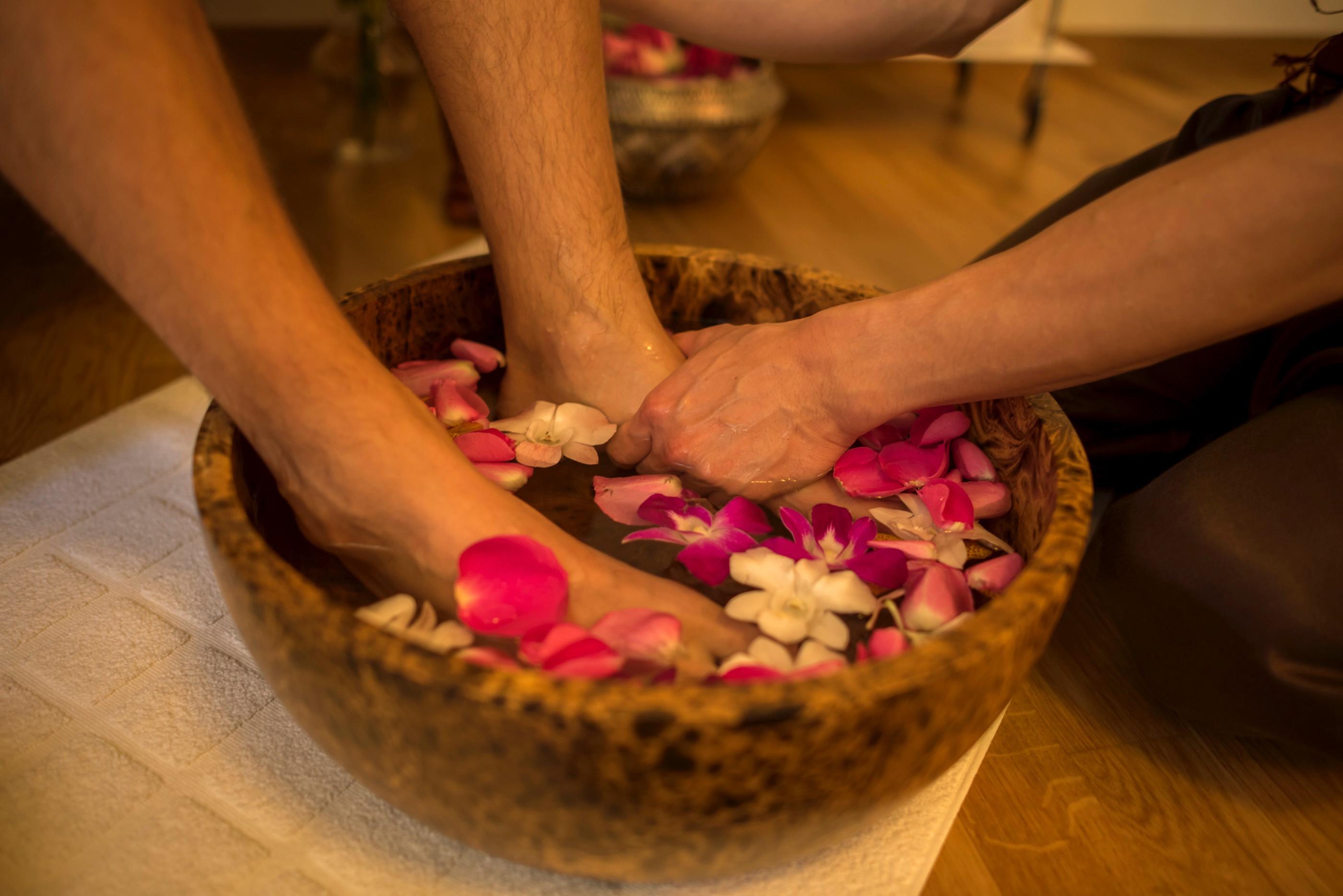 Thailändische Fussreflexzonen Massage