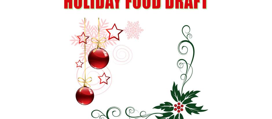 Holiday Food Draft