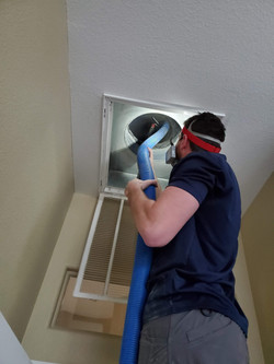 Return duct cleaning