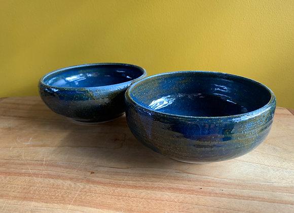 pair of bowls - ocean glaze