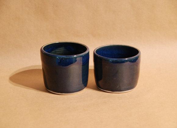 pair of cups - ocean glaze