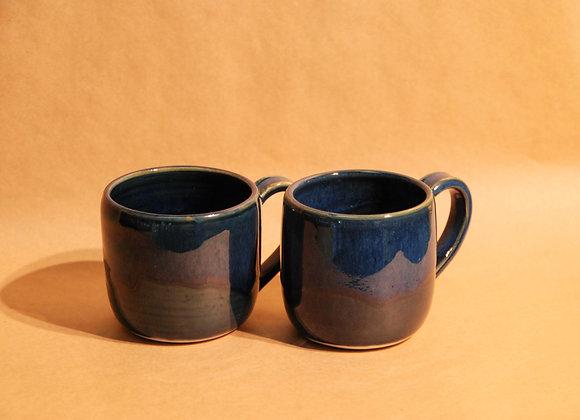pair of mugs - ocean glaze