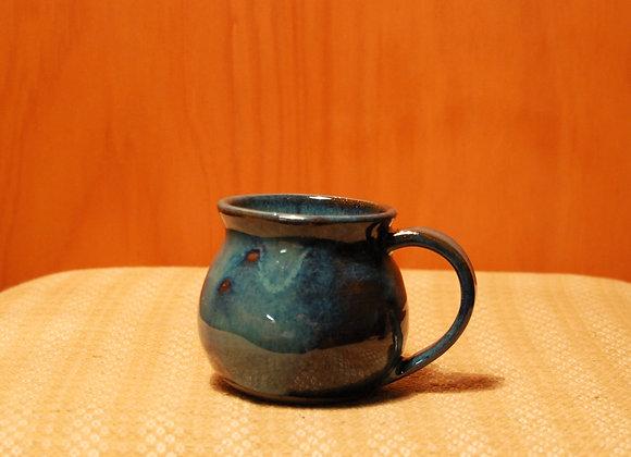 round mug - dripping ocean glaze