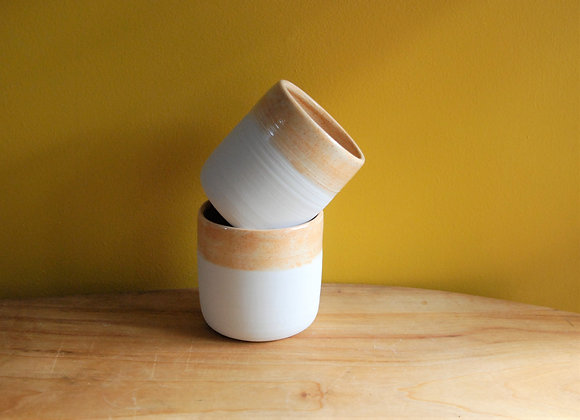 pair of cups - part dipped